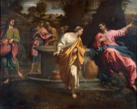 Christ and the Samaritan woman at the well, by Annibale Carracci, 1594-95. Credit Bridgeman Images