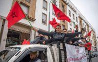 Marroquíes celebran en Rabat la decisión estadounidense sobre el Sáhara. FADEL SENNA / AFP