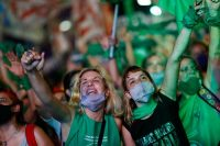 Argentines rally for the legalization of abortion as the Senate debates a bill in Buenos Aires at the end of last year. (Agustin Marcarian/Reuters)