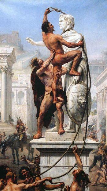 El saqueo de Roma del 410 (Joseph-Noël Sylvestre, 1890)