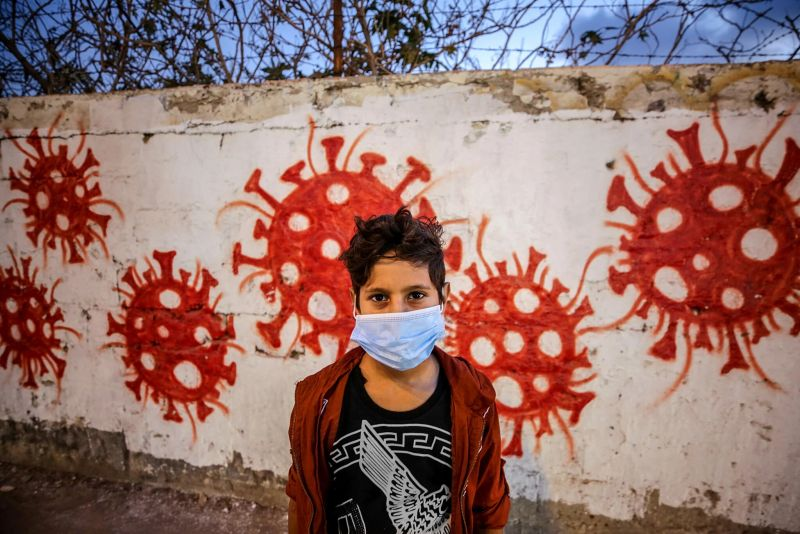 A Palestinian boy in the Nuseirat refugee camp in the Gaza Strip. Credit Mohammed Saber/EPA, via Shutterstock