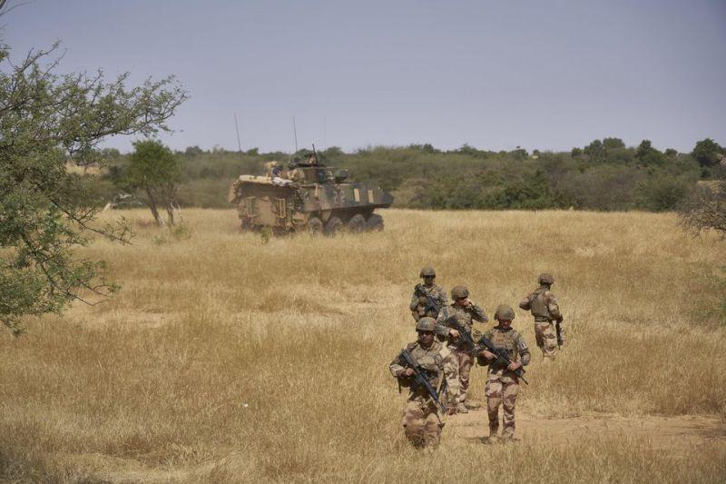 Les forces françaises de l'opération Barkhane au nord du Burkina Faso, en novembre 2019. Photo Michele Cattani. AFP