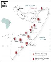 Map of Voting Locations in Somalia International Crisis Group