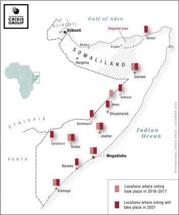 Map of Voting Locations in Somalia. International Crisis Group