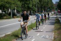 Un carril bici de Barcelona. ALBERT GARCIA