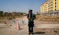 "'China's regime has built about 400 internment camps in Xinjiang: they describe these prisons as ""re-education camps"".' Photograph: Thomas Peter/Reuters"