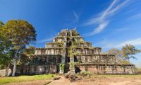 'It is impossible to undo the damage done to Cambodia by decades of looting.' The ancient Khmer pyramid in Koh Kher, Cambodia. Photograph: Ivan Synieokov/Alamy