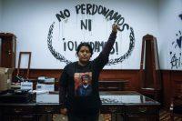 Erika Martínez, madre de una víctima de abuso sexual, en México.