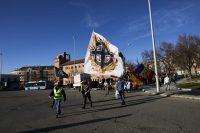 Varias personas participan en una marcha neonazi en Madridel 13 de febrero de 2021.Jesús Hellín / Europa Press