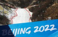 The National Alpine Skiing Center, a venue of the 2022 Winter Olympic Games, in Beijing's Yanqing district on Feb. 5. (Tingshu Wang/Reuters)