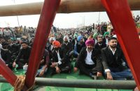 Indian advocates from Punjab state attend a sit-in protest near New Delhi on Wednesday. (Harish Tyagi/EPA-EFE/Shutterstock)