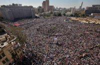 Egyptians celebrated the fall of President Hosni Mubarak's regime in Cairo's Tahrir Square in 2011. (Ben Curtis/AP)