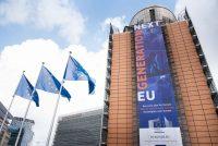 Pancarta del Plan de recuperación para Europa (Next Generation EU) en el edificio Berlaymont, sede la Comisión Europea. Foto: Aurore Martignoni – EC Audiovisual Service / © European Union, 2020