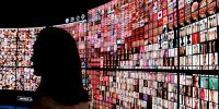 A digital influence exhibition at the Vivatech startups and innovation fair, in Paris. Photo by ALAIN JOCARD/AFP via Getty Images.