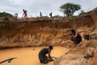 Gold mining at the edge of Canaima National Park in Venezuela. (Michael Robinson Chavez/The Washington Post)