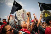 Un grupo de mujeres durante una protesta, el 18 de enero de 2020 en Santiago de Chile.EDGARD GARRIDO / Reuters