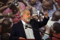 Luiz Inácio 'Lula' da Silva, expresidente de Brasil, en una conferencia de prensa en el Sindicato de Trabajadores en São Bernardo do Campo, Brasil, el 10 de marzo de 2021. (Victor Moriyama/Bloomberg)