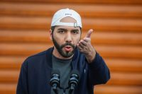 El presidente de El Salvador, Nayib Bukele, en febrero de este año. Credit Jose Cabezas/Reuters