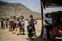 Un comedor de beneficencia en Comas, en las afueras de Lima, Perú, el 3 de febrero de 2021. (Ernesto Benavides / AFP)
