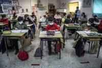 Estudiantes de un colegio de Valencia.Mònica Torres