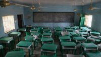 A deserted classroom at the Government Girls Secondary School, the day after the abduction of over 300 schoolgirls by gunmen in Jangebe, a village in Zamfara State, northwest of Nigeria on 27 February 2021. Kola Sulaimon / AFP