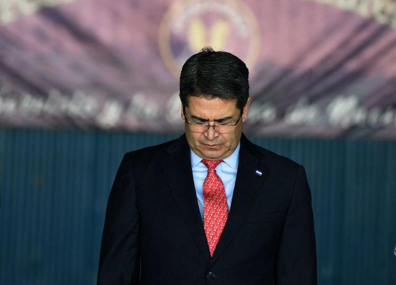 El presidente de Honduras, Juan Orlando Hernández, en 2018. Credit Orlando Sierra/Agence France-Presse — Getty Images