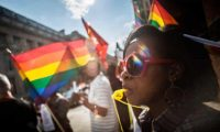 Protest against anti-gay laws outside the Jamaican High Commission in London, 2014. Photograph: Guy Corbishley/Alamy