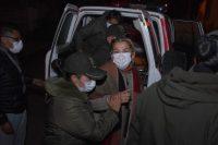 La expresidenta interina de Bolivia, Jeanine Áñez, es trasladada de prisión, este sábado en La Paz.Stringer / EFE