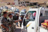 Photo d'illustration : des membres des FSI vérifient les papiers de réfugiés syriens quittant Ersal, lors d'un retour organisé le 28 juin 2018. Photo d'archives AFP