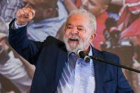 El expresidente Luiz Inácio Lula da Silva en una conferencia de prensa el 10 de marzo. Credit Alexandre Schneider/Getty Images