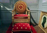 Trono de Napoleón Bonaparte, de la colección privada de Bruno Ledoux, en París.THOMAS COEX / AFP