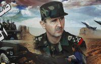 Un portrait de Bachar al-Assad dans une rue de Damas, en mars 2019. (LOUAI BESHARA/AFP)