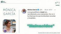 ACOM recoge las declaraciones antisemitas de la candidata Mónica García.