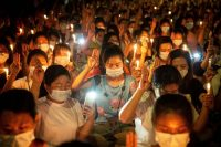 Protesters prayed in Yangon, Myanmar, in March for demonstrators who died during demonstrations against the military coup. Credit Theint Mon Soe/SOPA Images and LightRocket, via Getty Images