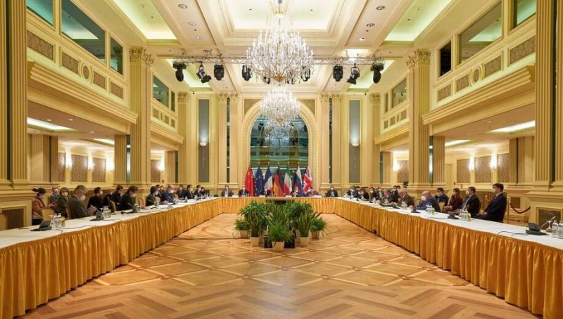 European Union Delegation members from the parties to the Iran nuclear deal. (AFP/Getty Images)