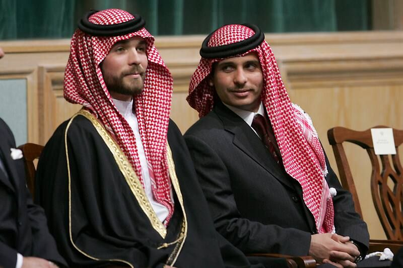 Prince Hamzeh bin Hussein, right, and Prince Hashem bin Hussein in Amman, Jordan, in 2006. (Mohammad abu Ghosh/AP)