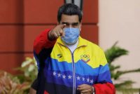 President Nicolás Maduro during an event at the Miraflores presidential palace in Caracas on Feb. 12. (Ariana Cubillos/AP)