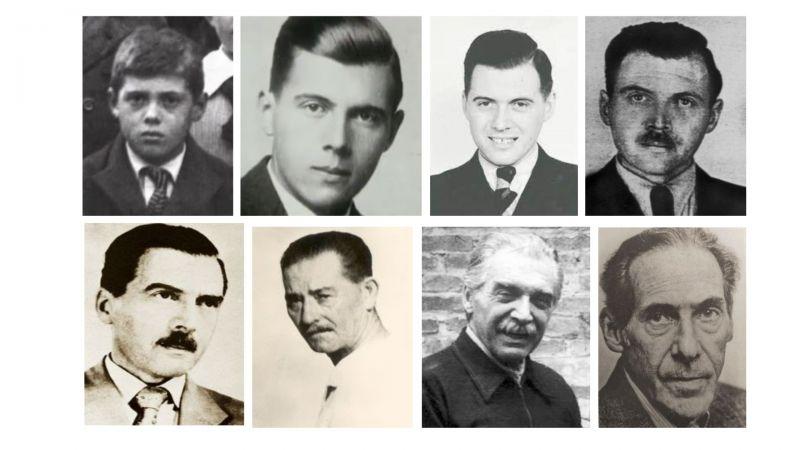 Fotografías de Josef Mengele a lo largo de su vida. Author provided