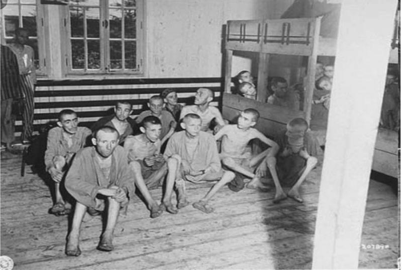 Cobayas humanos en la enfermería de Auschwitz. Author provided