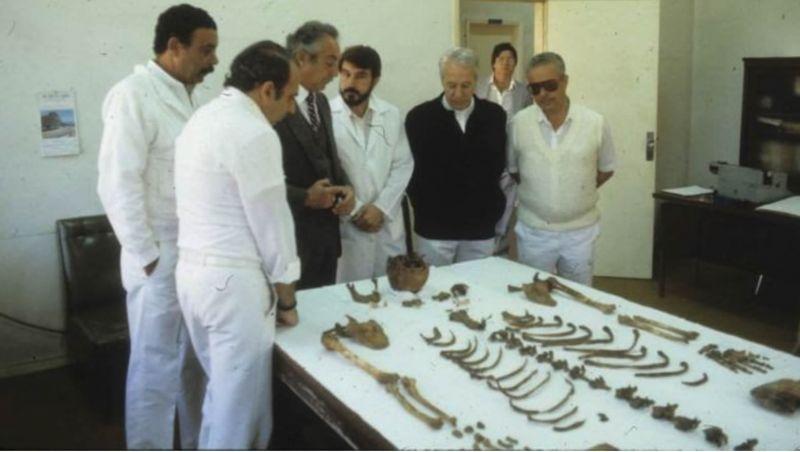 Restos óseos de Mengele en el Instituto de Medicina Forense de Sao Paulo. Author provided