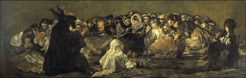 El Aquelarre (Francisco de Goya, 1921-23). Wikimedia Commons / Museo del Prado