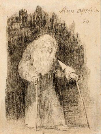 Aún aprendo (Francisco de Goya hacia 1826). Wikimedia Commons / Museo del Prado