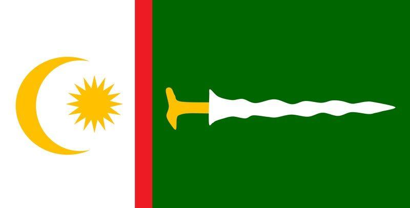 The flag of the newly created Bangsamoro autonomous region. Credit Wikipedia Commons