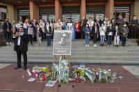 Homenaje al profesor asesinado Samuel Paty, en Poissy, cerca de París, el pasado octubre.ISA HARSIN/SIPA / SIPA