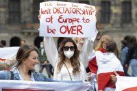 Protesta contra Lukashenko en Amsterdam.OLAF KRAAK / EFE