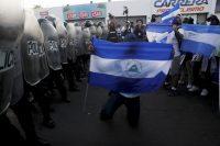Una de las protestas de 2018, en Managua. Credit Esteban Biba/Epa-Efe vía Rex