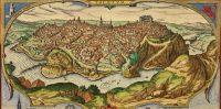 Mapa de Toledo obra de Joris Hoefnagel, procedente de 'Civitates orbis terrarum', de Braun and Hogenberg, 1572. Historic Cities