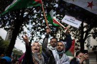 Manifestación en favor de los palestinos, el pasado 15 de mayo en Nantes, Francia.LOIC VENANCE / AFP