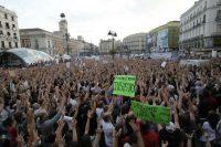 Acampada del 15-M en la Puerta del Sol de Madrid.Luis Sevillano