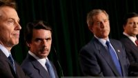 Tony Blair, José María Aznar, George W. Bush y José Manuel Durao Barroso.